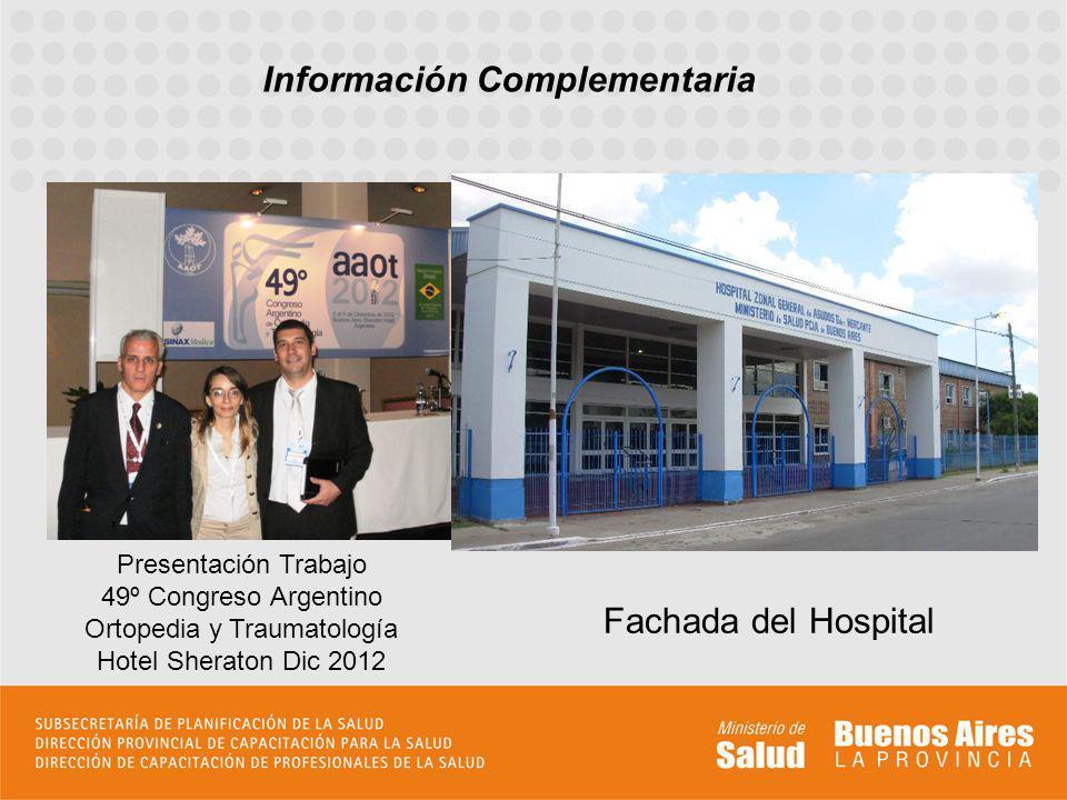 Presentación Trabajo 49º Congreso Argentino Ortopedia y Traumatología Hotel Sheraton Dic 2012 Fachada del Hospital