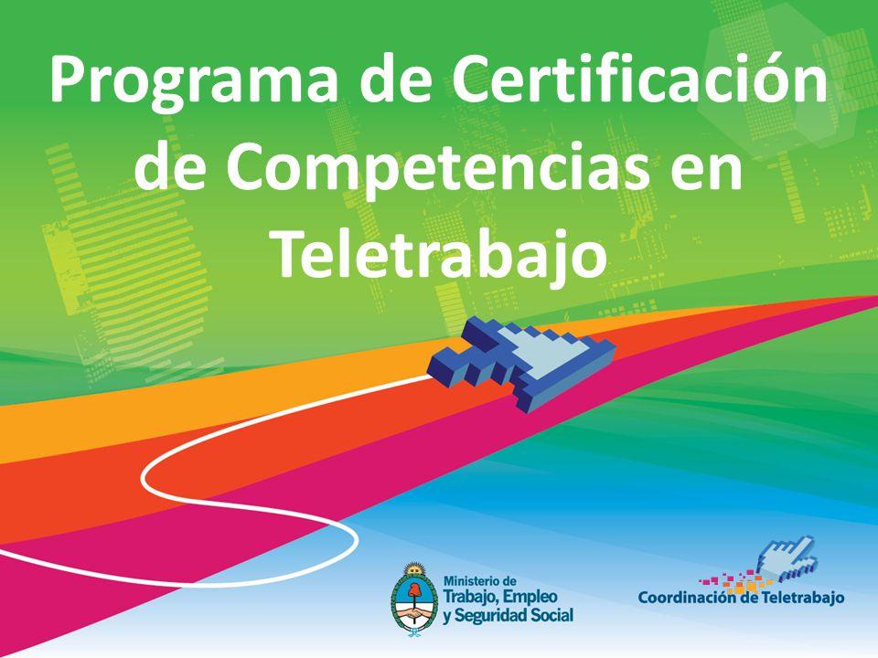 Programa de Certificación de Competencias en Teletrabajo