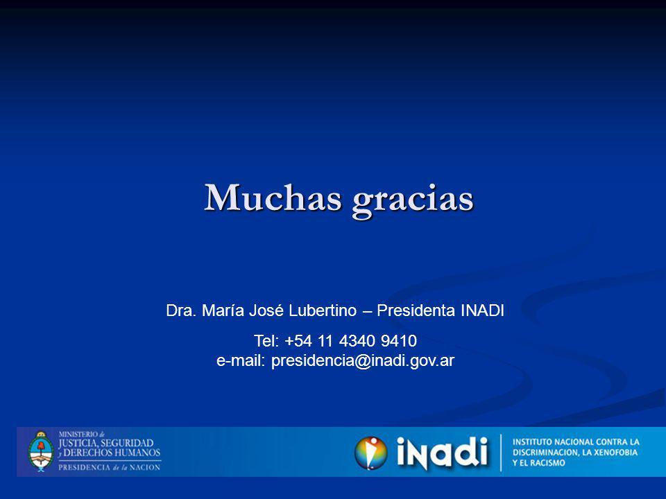 Muchas gracias Dra.