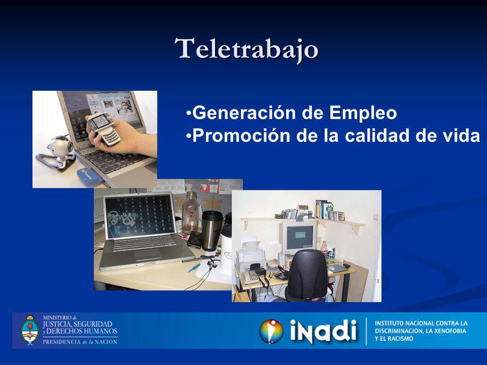 Teletrabajo Generación de Empleo Promoción de la calidad de vida