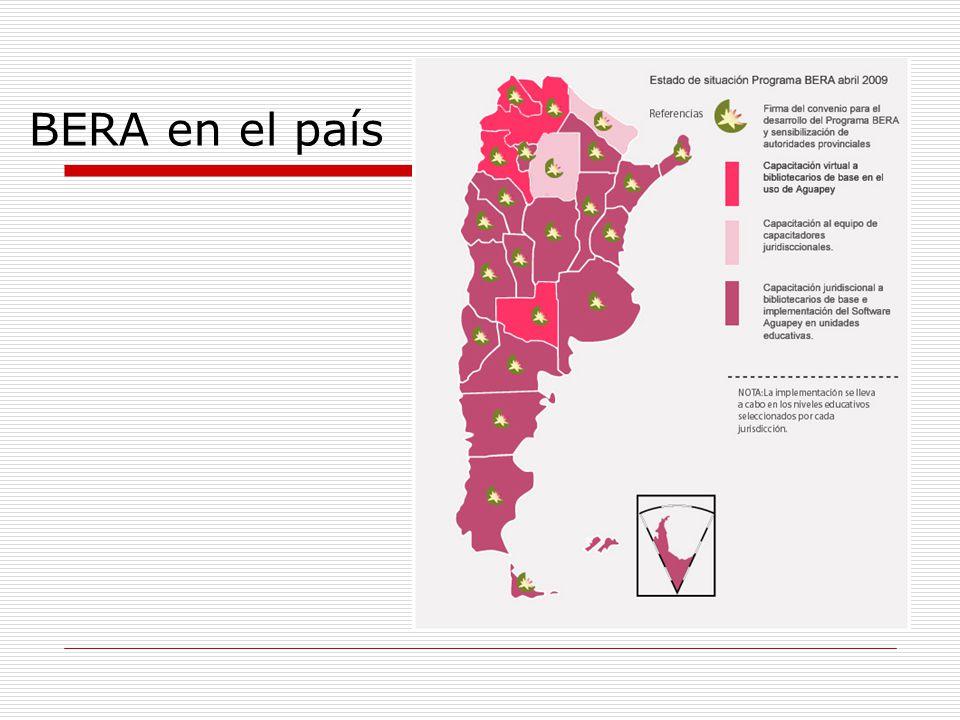 BERA en números Jornadas de sensibilización 2002 - 2008