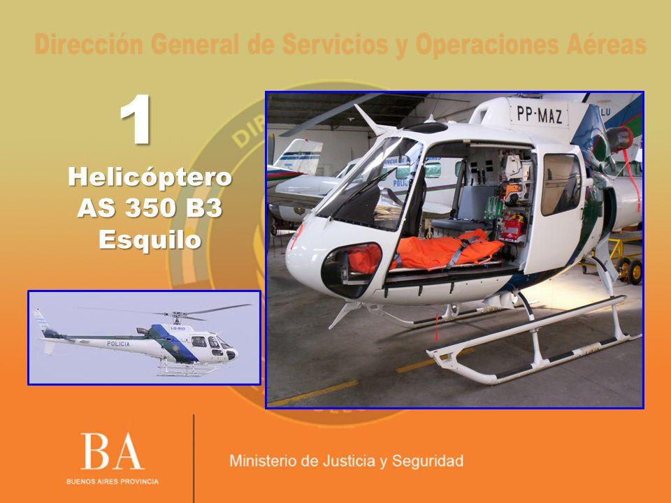 Estas aeronaves se hallan provistas con defibrilador con monitor, respirador de emergencia, monitor para electrocardiograma ECG, panel para equipamiento médico con controles y salidas, sistema de suministro de oxígeno externo, equipo de succión.
