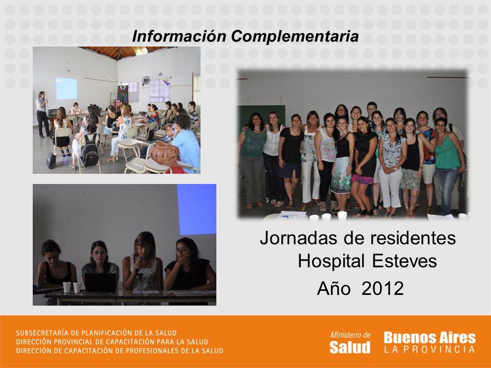 Información Complementaria Jornadas de residentes Hospital Esteves Año 2012