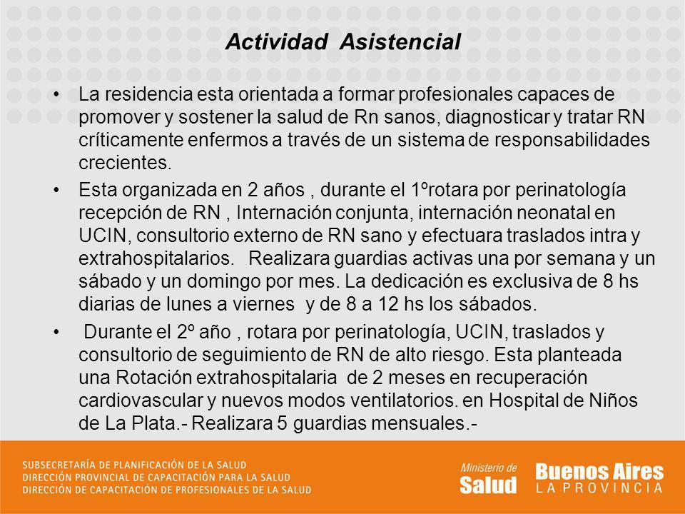 Participara de las actividades teóricas programadas del Servicio y del Hospital.
