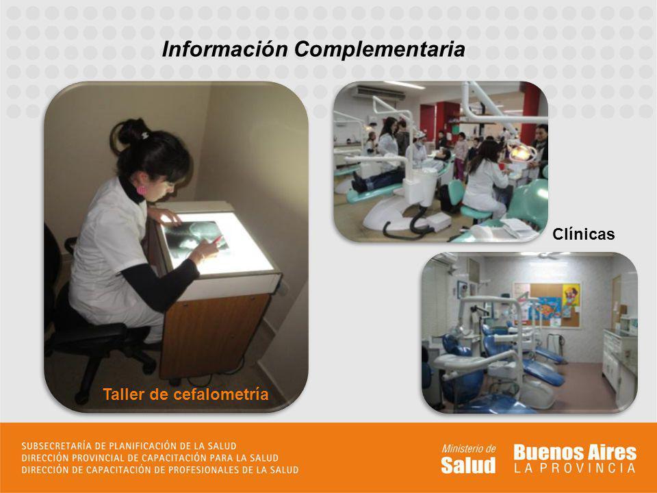 Información Complementaria Taller de cefalometría Clínicas