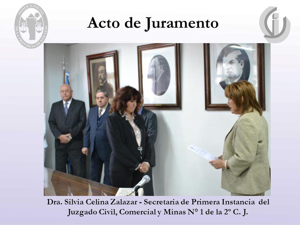 Dra. Silvia Celina Zalazar - Secretaria de Primera Instancia del Juzgado Civil, Comercial y Minas N° 1 de la 2º C. J.