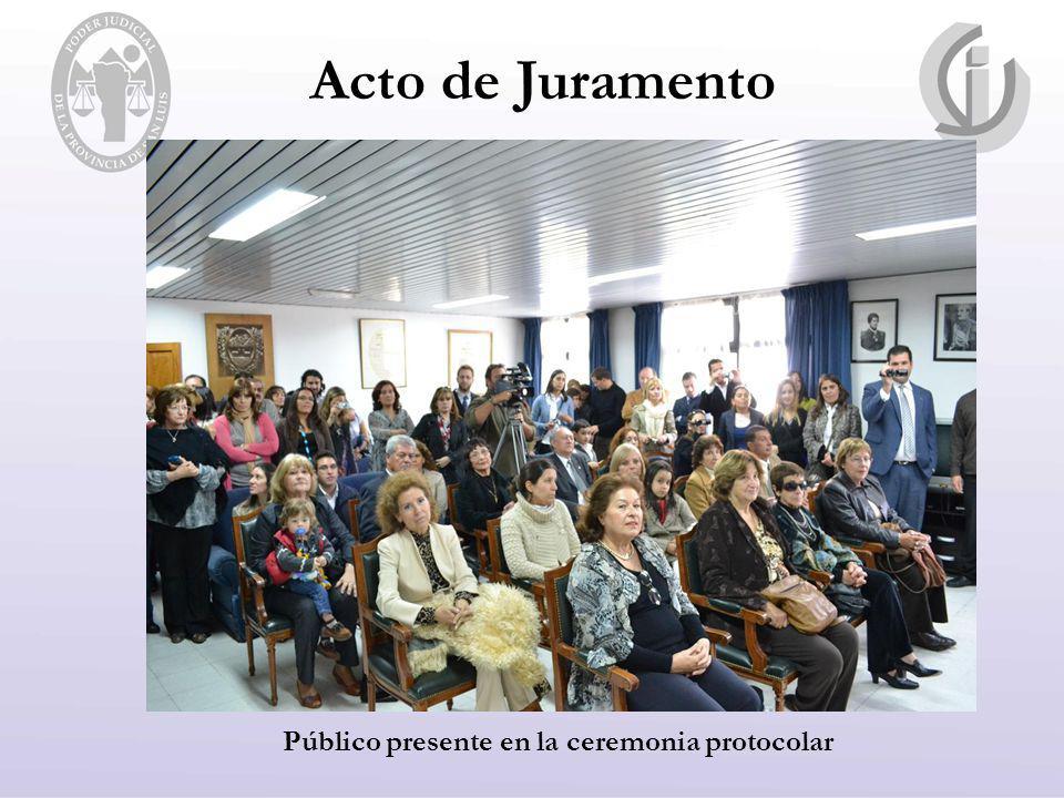 Acto de Juramento Público presente en la ceremonia protocolar