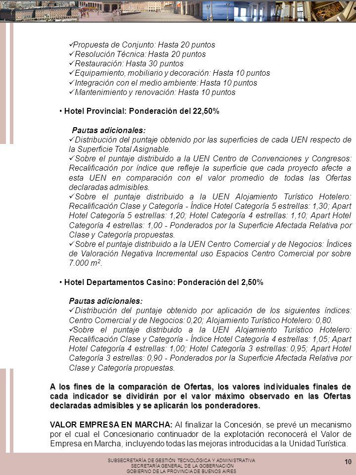 SUBSECRETARÍA DE GESTIÓN TECNOLÓGICA Y ADMINISTRATIVA SECRETARÍA GENERAL DE LA GOBERNACIÓN GOBIERNO DE LA PROVINCIA DE BUENOS AIRES 10 Propuesta de Co