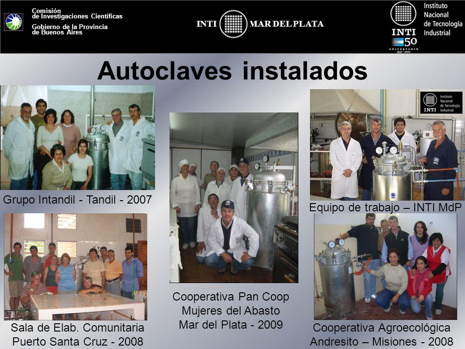 Comisión de Investigaciones Científicas Gobierno de la Provincia de Buenos Aires MAR DEL PLATAINTI Autoclaves instalados Grupo Intandil - Tandil - 200
