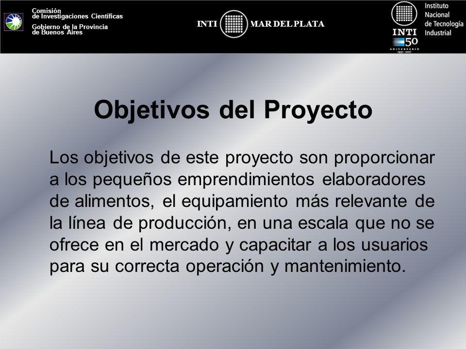 Comisión de Investigaciones Científicas Gobierno de la Provincia de Buenos Aires MAR DEL PLATAINTI Objetivos del Proyecto Los objetivos de este proyec