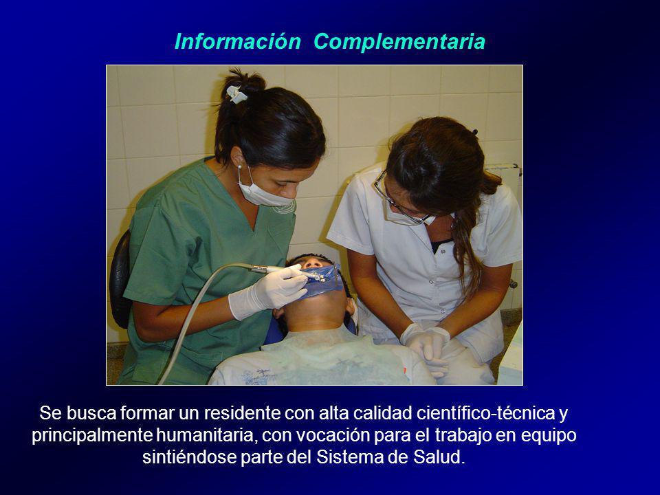 Se busca formar un residente con alta calidad científico-técnica y principalmente humanitaria, con vocación para el trabajo en equipo sintiéndose parte del Sistema de Salud.