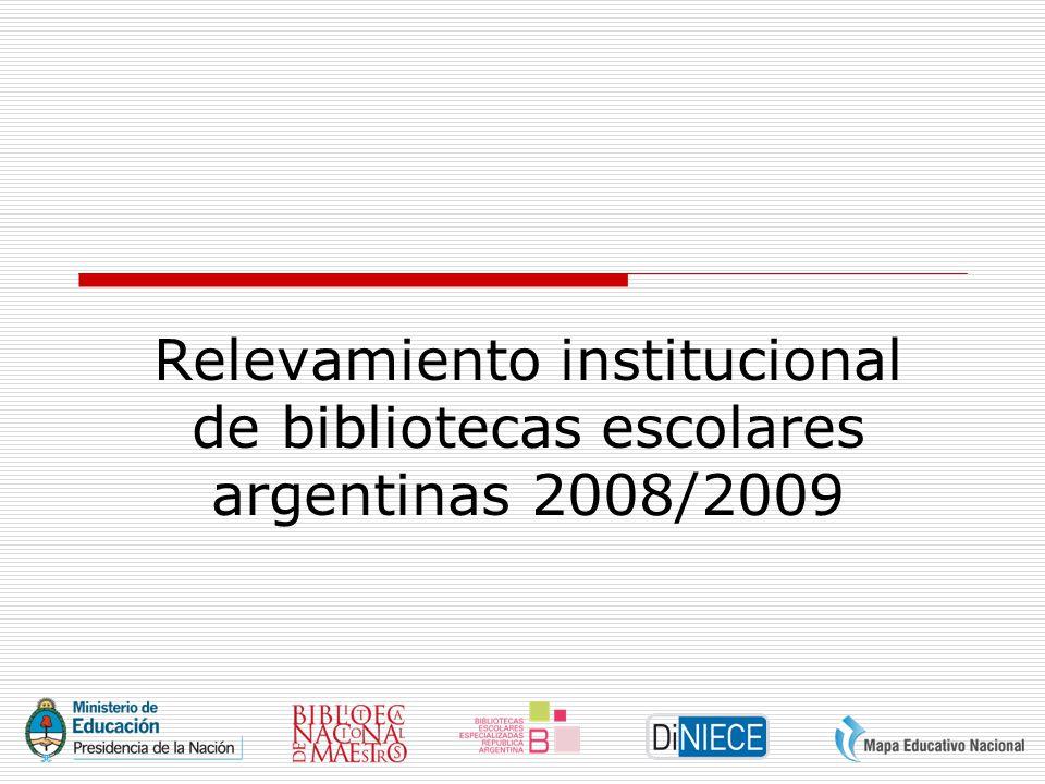 Relevamiento institucional de bibliotecas escolares argentinas 2008/2009