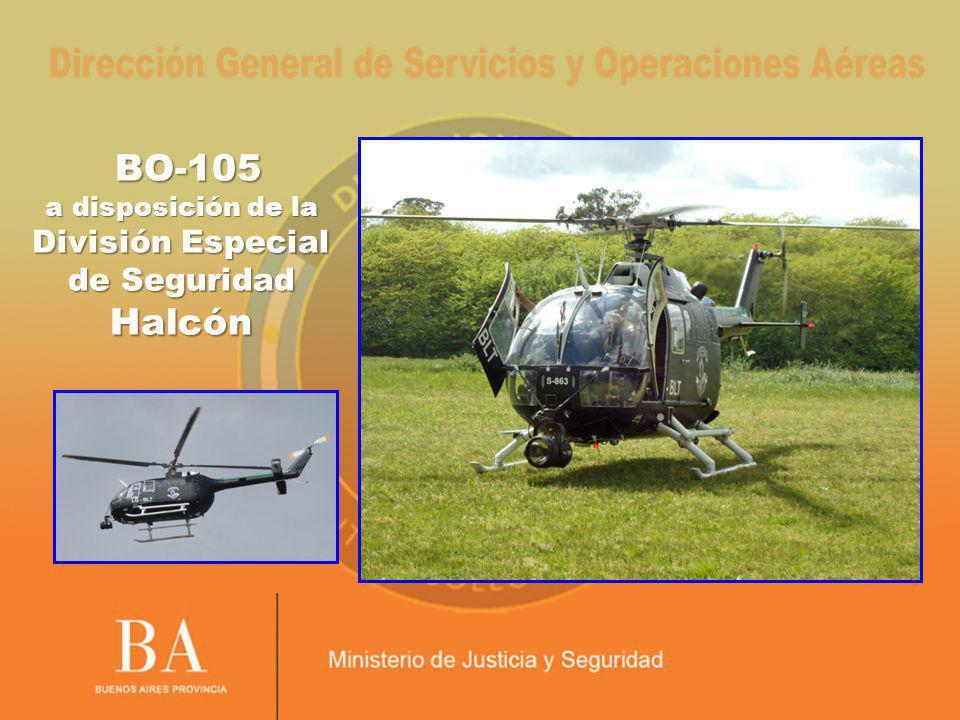 BO-105 a disposición de la División Especial de Seguridad Halcón BO-105 a disposición de la División Especial de Seguridad Halcón