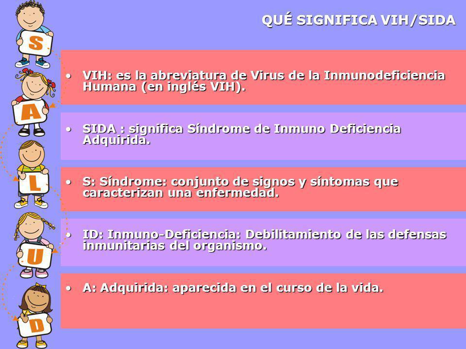 VIH: es la abreviatura de Virus de la Inmunodeficiencia Humana (en inglés VIH).VIH: es la abreviatura de Virus de la Inmunodeficiencia Humana (en inglés VIH).