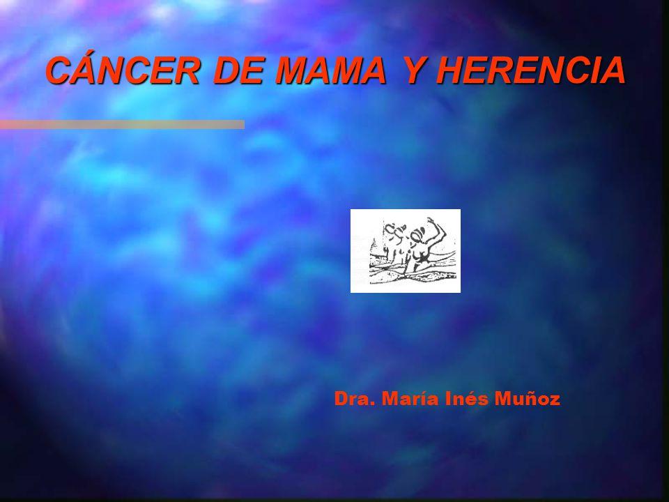 CÁNCER DE MAMA Y HERENCIA Dra. María Inés Muñoz