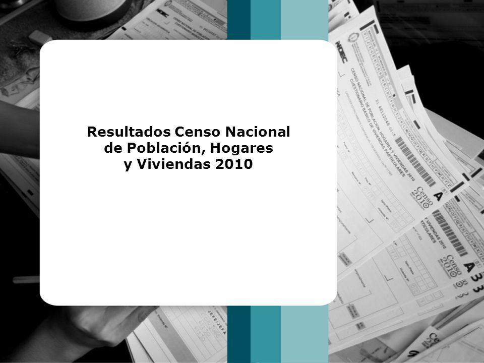 Resultados Censo Nacional de Población, Hogares y Viviendas 2010