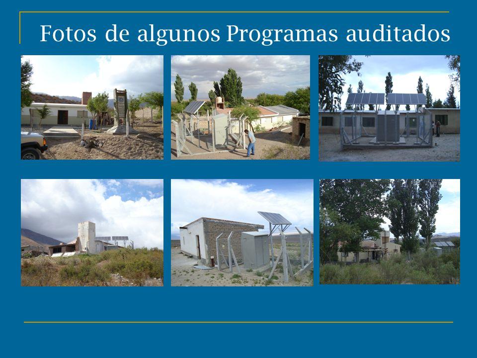 Fotos de algunos Programas auditados