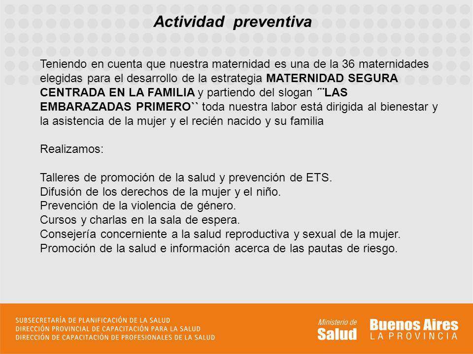Actividad Académica Nuestro hospital cuenta desde el año 2009 con la recepción de las alumnas de 4º año de la carrera de Obstetricia de la Facultad de Medicina de la Universidad de Buenos Aires (UDH III).