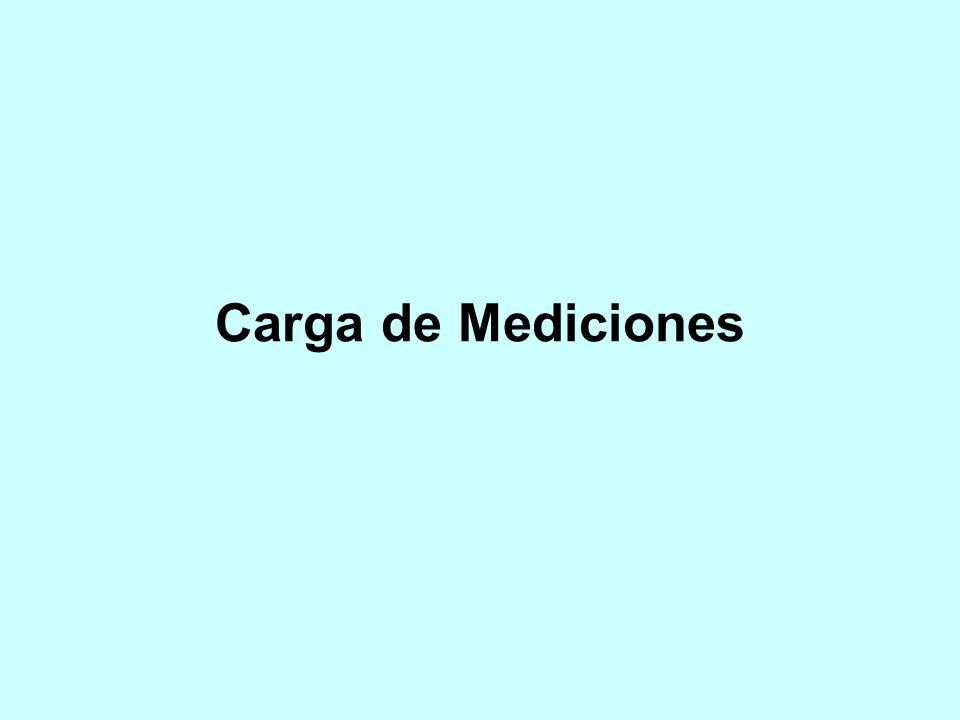 Carga de Mediciones