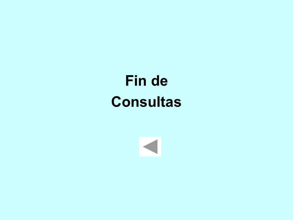 Fin de Consultas