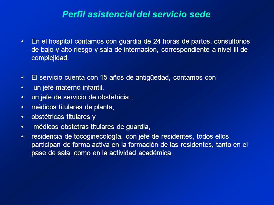 En el hospital contamos con guardia de 24 horas de partos, consultorios de bajo y alto riesgo y sala de internacion, correspondiente a nivel lll de co