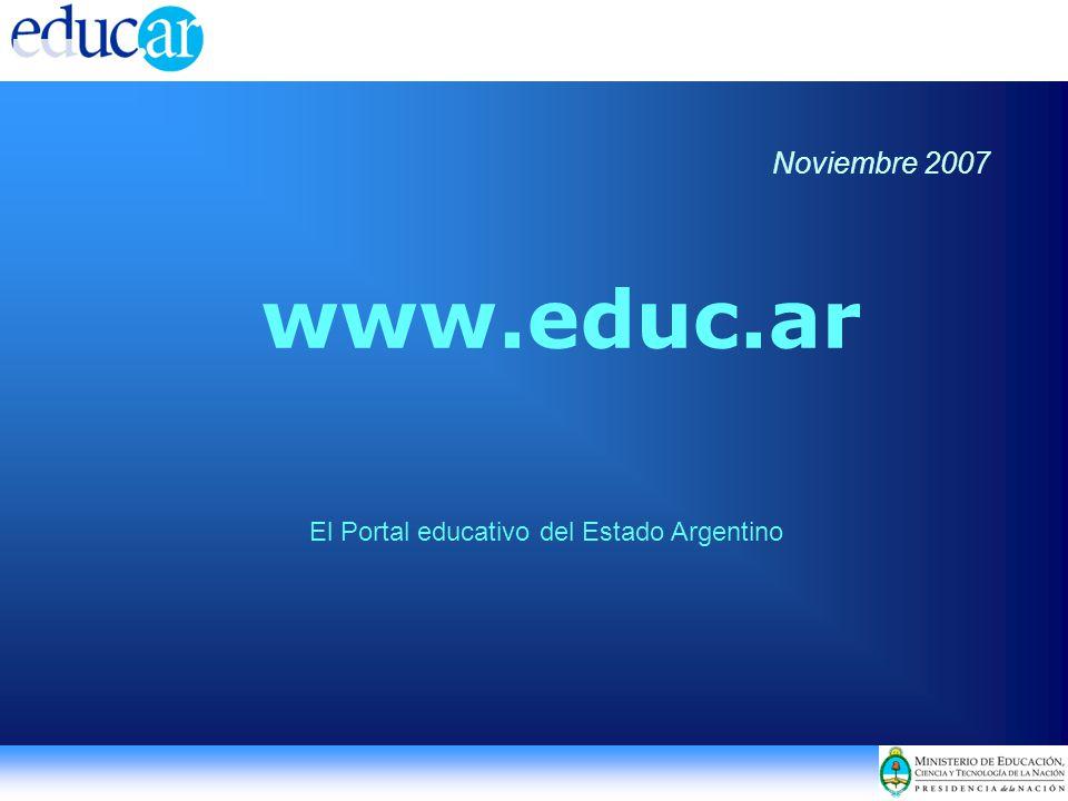 www.educ.ar El Portal educativo del Estado Argentino Noviembre 2007
