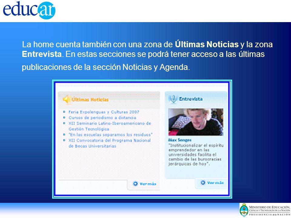 Actualidad del portal educ.ar y encuentro; becas; concursos; boletines; convocatorias, etc.