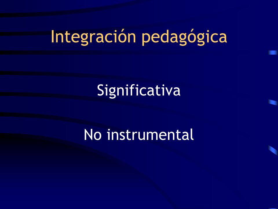 Integración pedagógica Significativa No instrumental