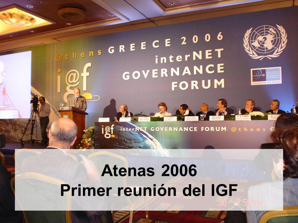 12 Atenas 2006 Primer reunión del IGF