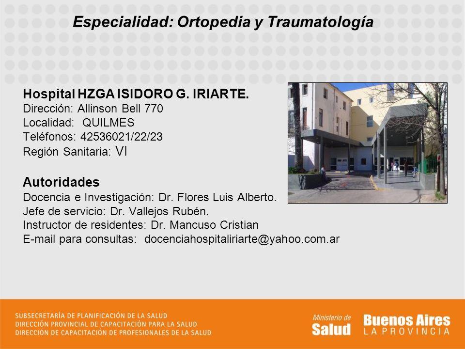 El Hospital Zonal General de Agudos Isidoro G.