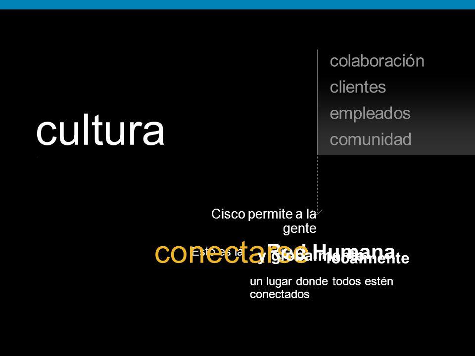 un lugar donde todos estén conectados Esto es la Red Humana conectarse cultura comunidad empleados clientes Cisco permite a la gente y globalmente localmente colaboración