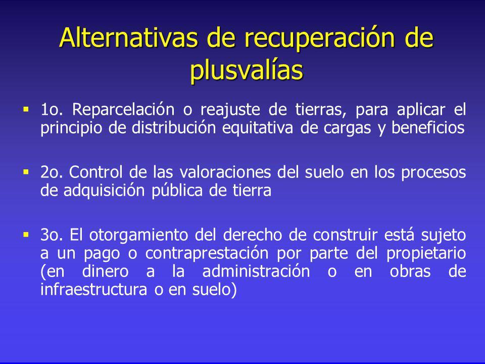 Alternativas de recuperación de plusvalías 1o.