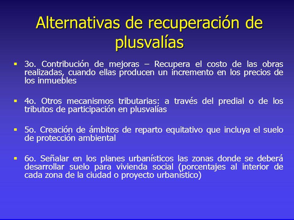 Alternativas de recuperación de plusvalías 3o.