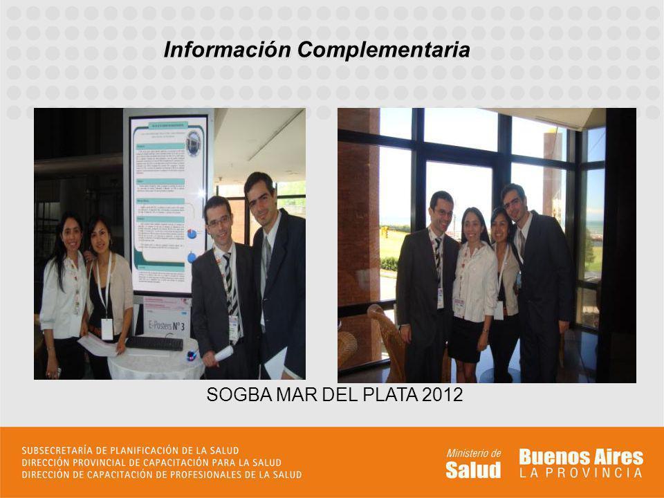 Información Complementaria SOGBA MAR DEL PLATA 2012
