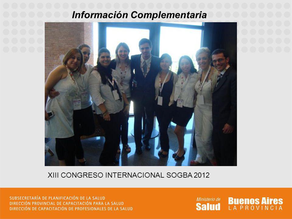 Información Complementaria XIII CONGRESO INTERNACIONAL SOGBA 2012