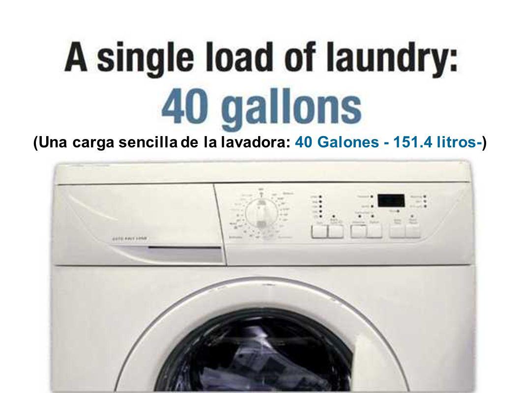 (Una tirada de cadena utiliza 3 galones -11.355 litros-)