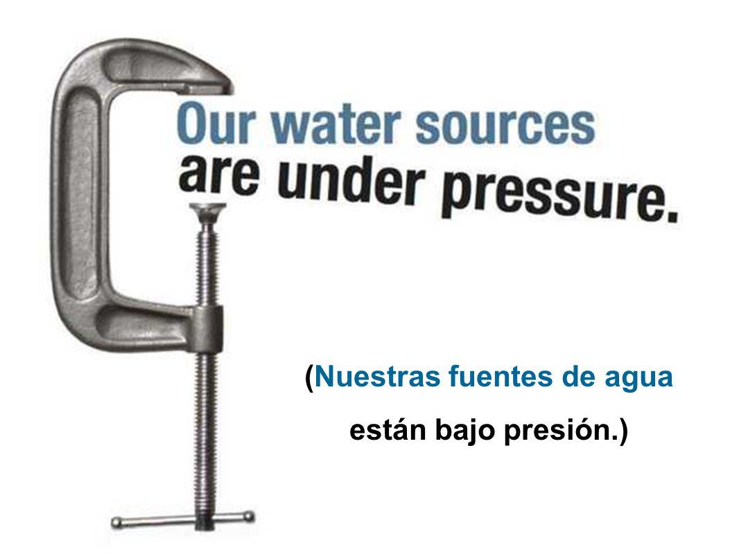 (Se avecina una crisis de agua.)