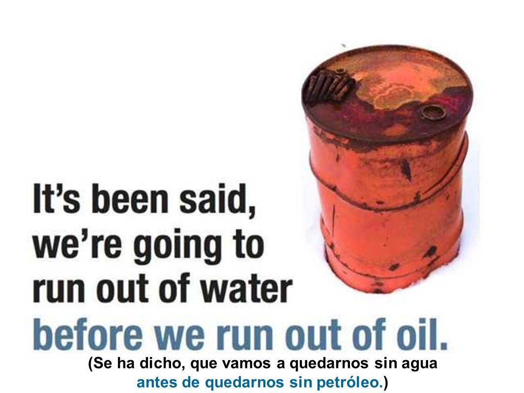 (La creciente escasez de agua a nivel mundial es seria.)