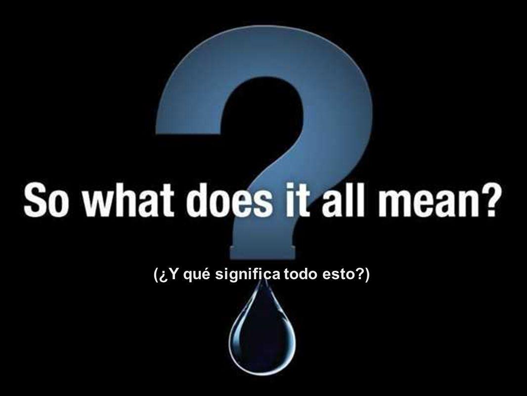 (Nuestro problema de agua pronto se convierte en un problema de hambruna.)