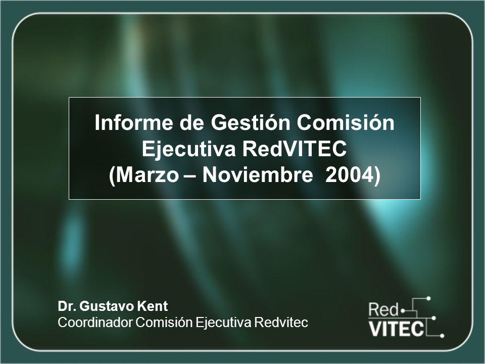 Informe de Gestión Comisión Ejecutiva RedVITEC (Marzo – Noviembre 2004) Dr.