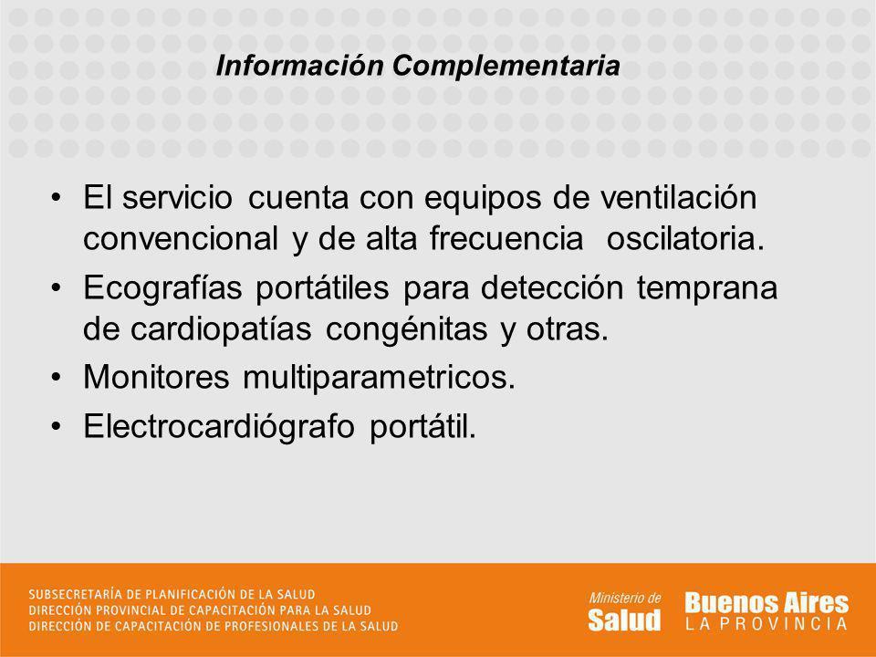El hospital es referente y cabecera de Región V por lo cual se reciben derivaciones de una amplia región que abarca zona norte hasta Zarate y Capilla del Señor.