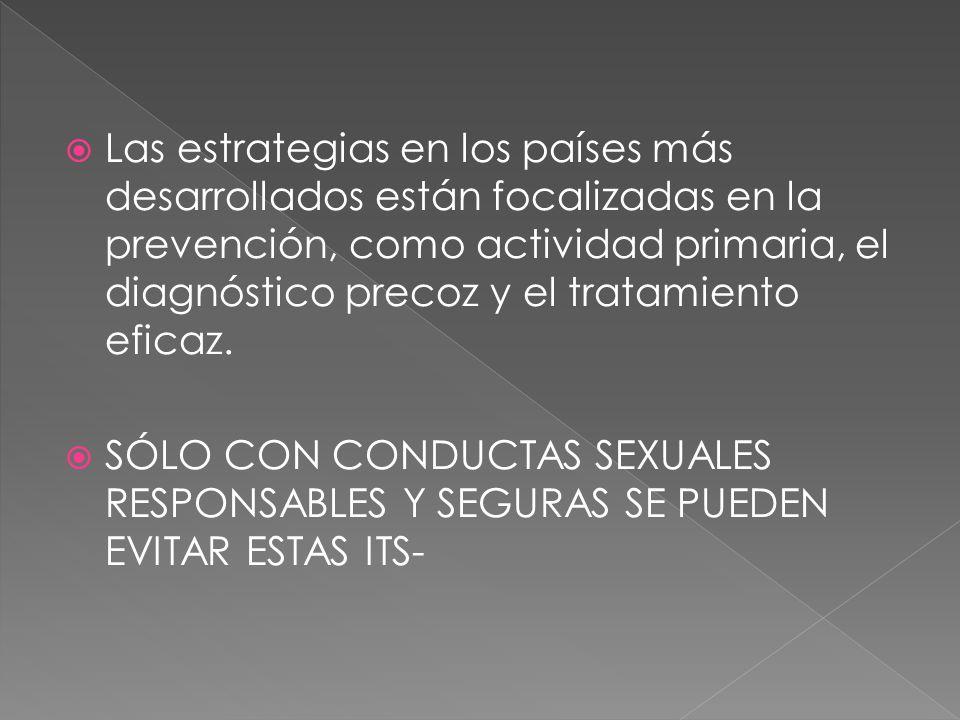 Edad inferior a 25 años Falta de uso de preservativos en las relaciones sexuales o mal uso del mismo.