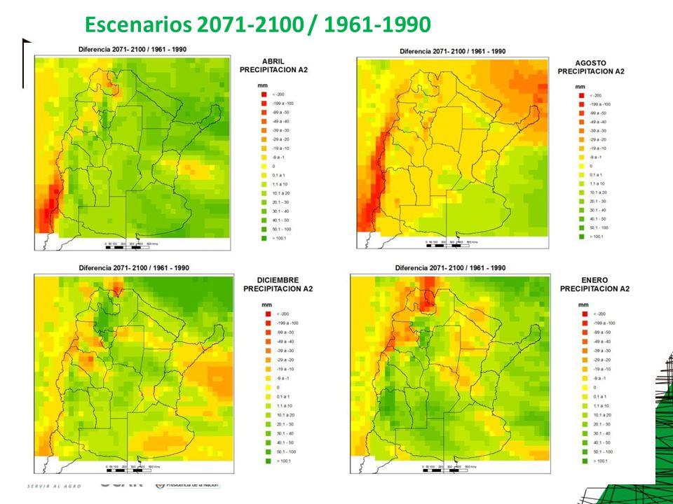 Escenarios 2071-2100 / 1961-1990