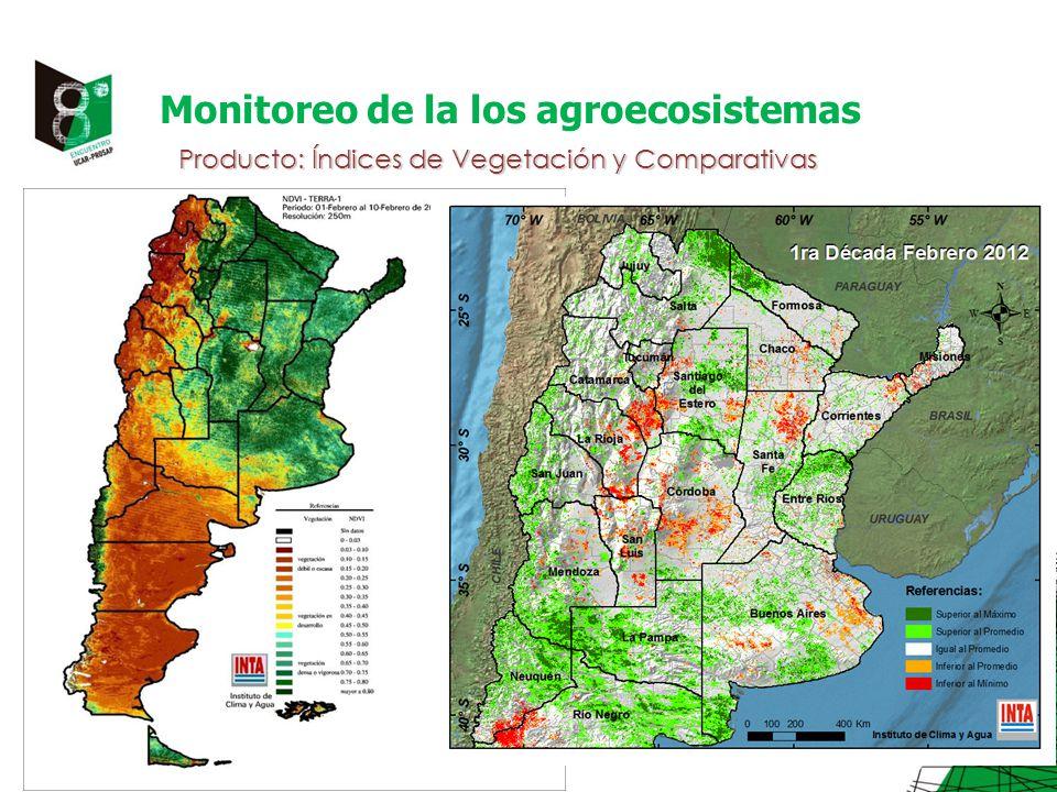 Monitoreo de la los agroecosistemas Producto: Índices de Vegetación y Comparativas