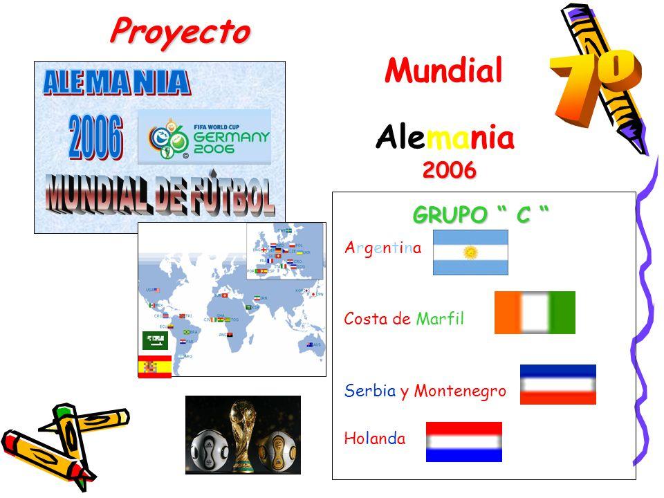 Proyecto Mundial Alemania 2 006 GRUPO C GRUPO C Argentina Costa de Marfil Serbia y Montenegro Holanda