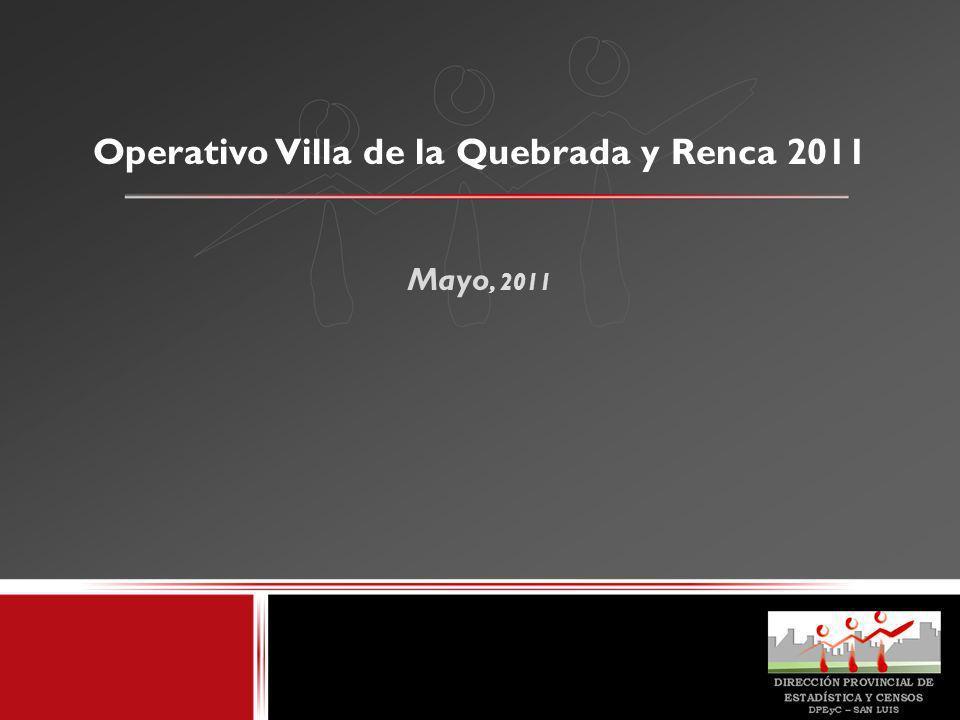 Operativo Villa de la Quebrada y Renca 2011 Mayo, 2011