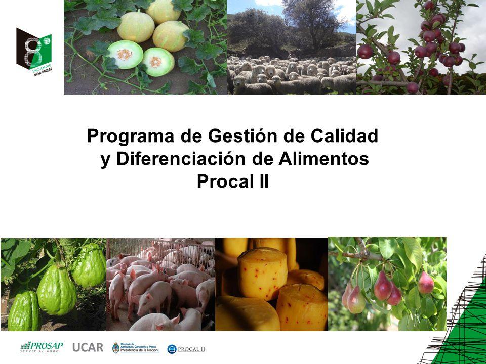 Programa de Gestión de Calidad y Diferenciación de Alimentos Procal II