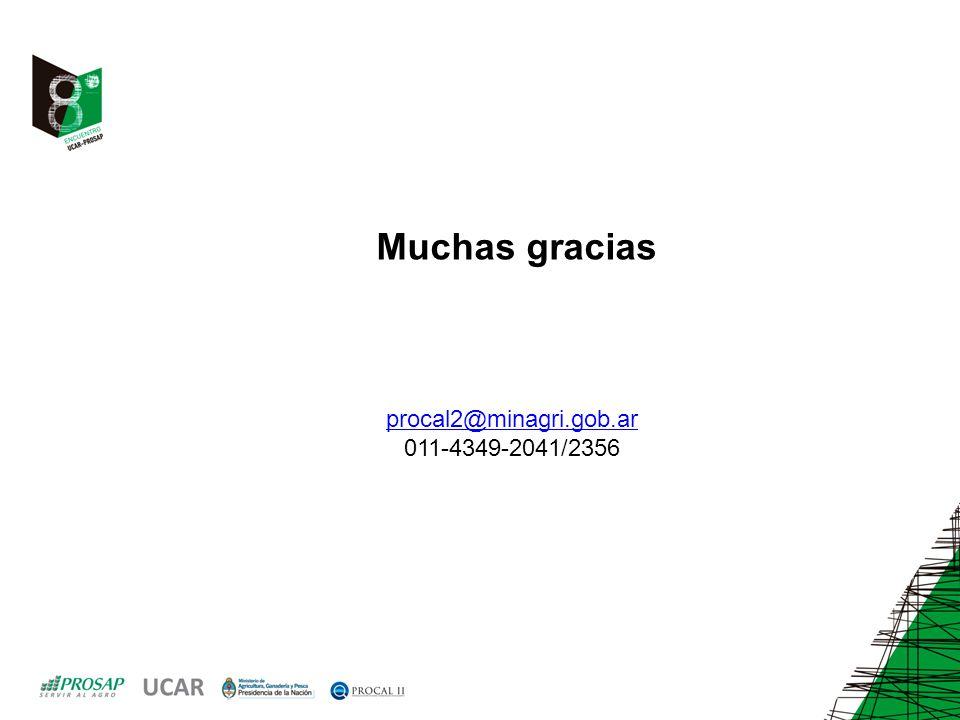 Muchas gracias procal2@minagri.gob.ar 011-4349-2041/2356