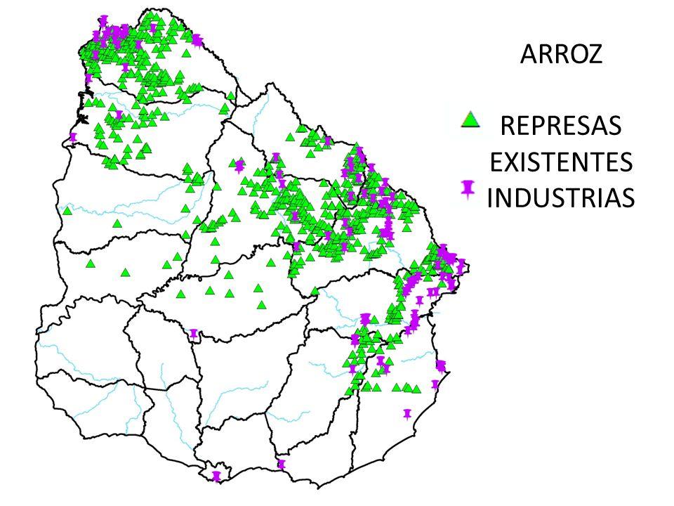 ARROZ REPRESAS EXISTENTES INDUSTRIAS