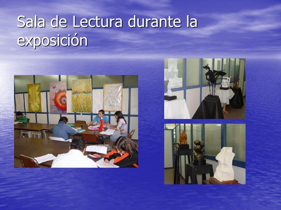Sala de Lectura durante la exposición